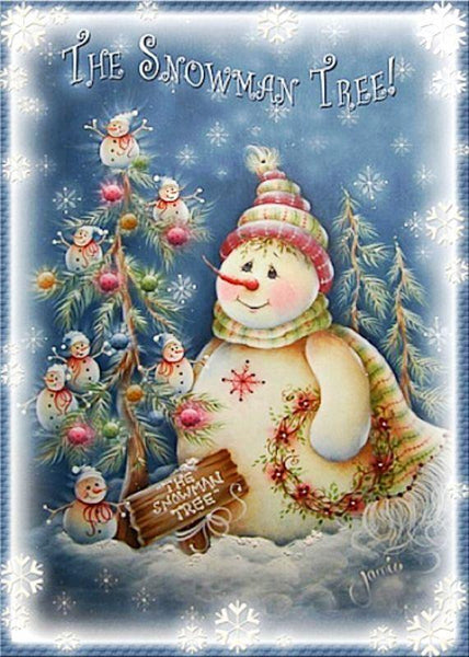 Cheap Christmas Tree And Snowman 5D DIY Diamond Painting Kits NA086