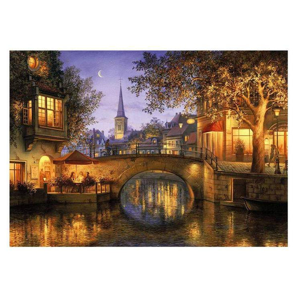 Cheap Landscape Town 5d Diy Embroidery Diamond Painting Kits BQ8108