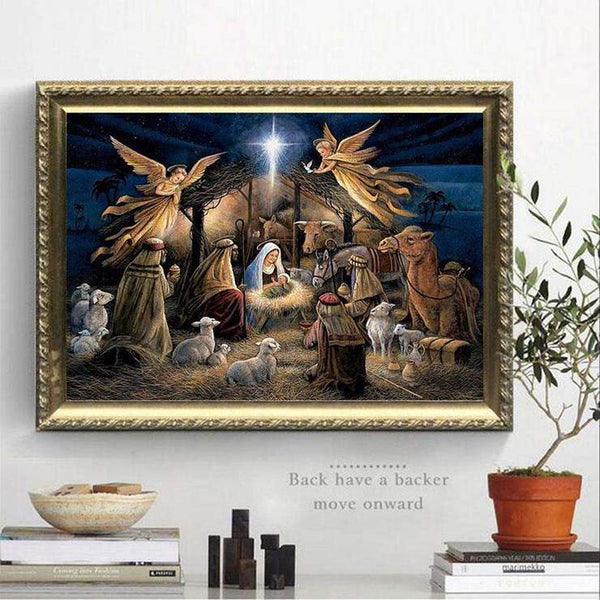 Cheap New Christianity Portrait 5d Diy Embroidery Diamond Painting Kits QB8094