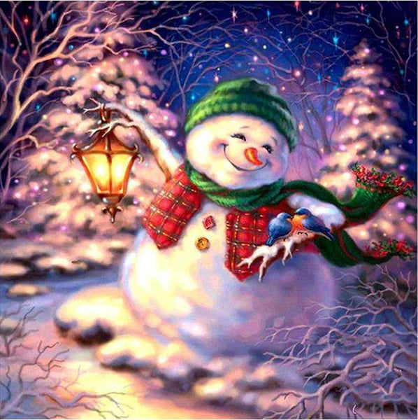 Hot Sale Cartoon Christmas Card Snowman In Winter 5d Diy Painting Diamond VM1806 (1766957809754)