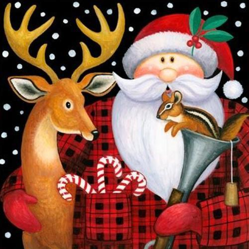 2019 5d Diy Diamond Painting Kits Santa Claus Reindeer VM99124