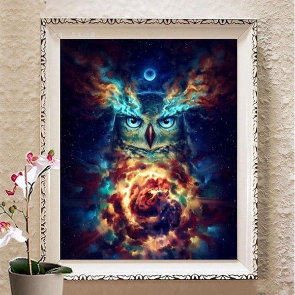 Chromatic Owl Pattern Mosaic Embroidery 5d Diy Cross Stitch Diamond Painting Kits QB7062