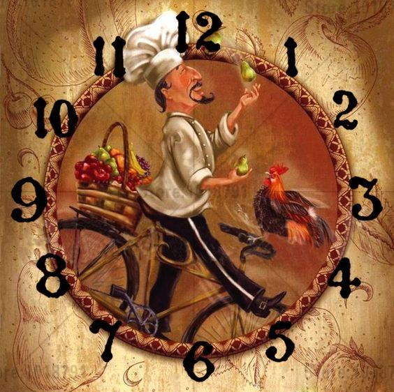 5D DIY Diamond Painting Kits Cartoon Cook Clock NB0164