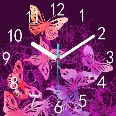 Dream Butterfly Clock 5d Diy Embroidery Cross Stitch Diamond Painting Kits NB0207
