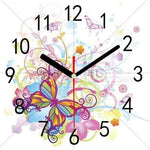 Dream Butterfly Clock 5d Diy Embroidery Cross Stitch Diamond Painting Kits NB0208