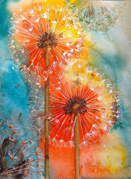 5D Diamond Painting  Kits Colored Dandelion Diy  VM7724