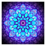 2019 5d Diy Diamond Painting Kits Purple Flower Mandala BQ5019