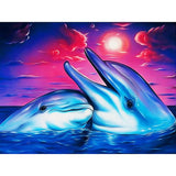 5d Diy Diamond Painting Kits Cartoon Art Animal Dolphin VM8577