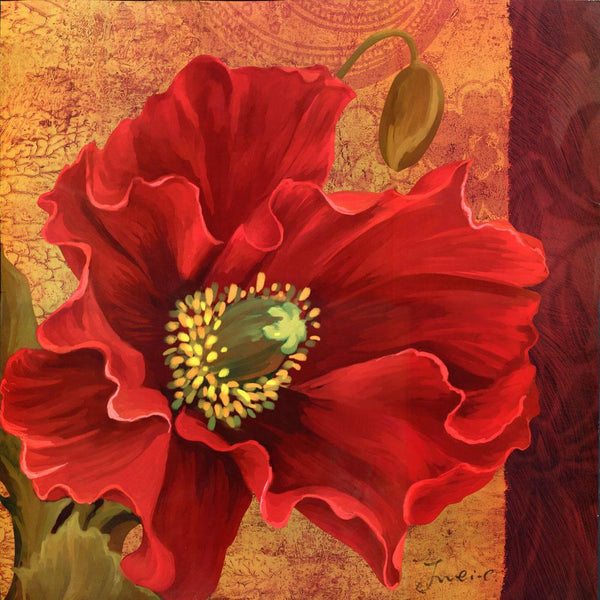 Modern Art Hot Red Flower Diy 5d Diamond Embroidery Painting Kits VM8714