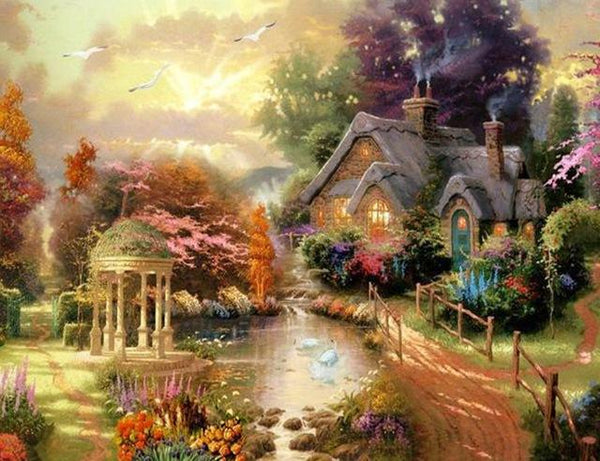 2019 5d Diy Diamond Painting Kits  Dream Cottage VM8384