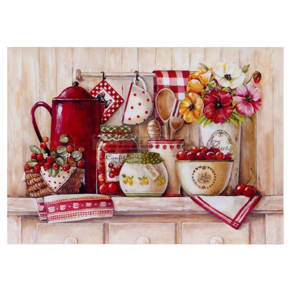 2019 5d Diamond Painting Kits Flower Tableware Fruit VM8702