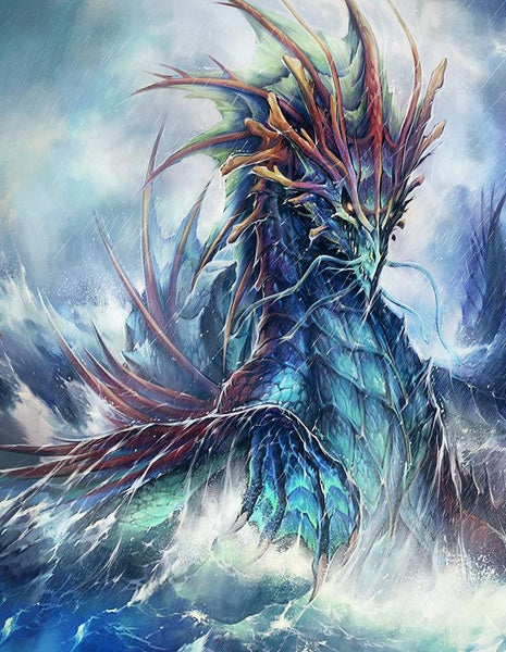5D DIY Diamond Painting Kits Embroidery Cross Stitch Dragon Sea VM88846