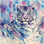 Oil Painting Style Animal Tiger 5d Cross Stitch Diy Painting By Crystal Kits QB5095