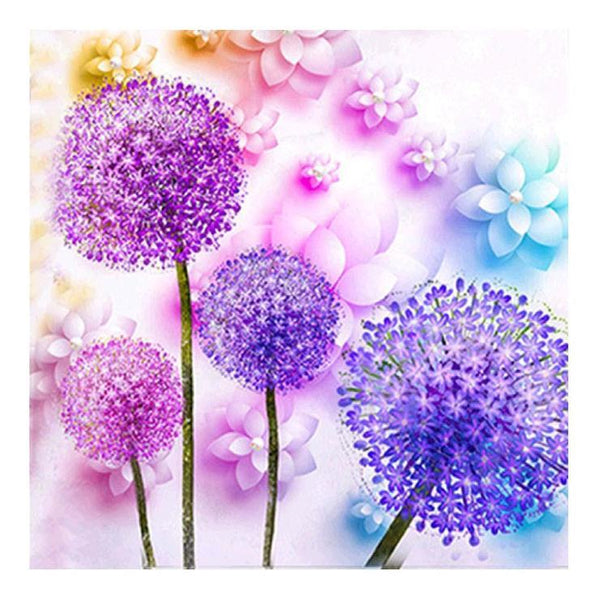 2019 5d DIY  Diamond Painting Kits Colorful Dandelion QB5140