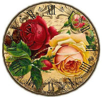 Dream Flower Clock 5d Diy Embroidery Cross Stitch Diamond Painting Kits NB0187