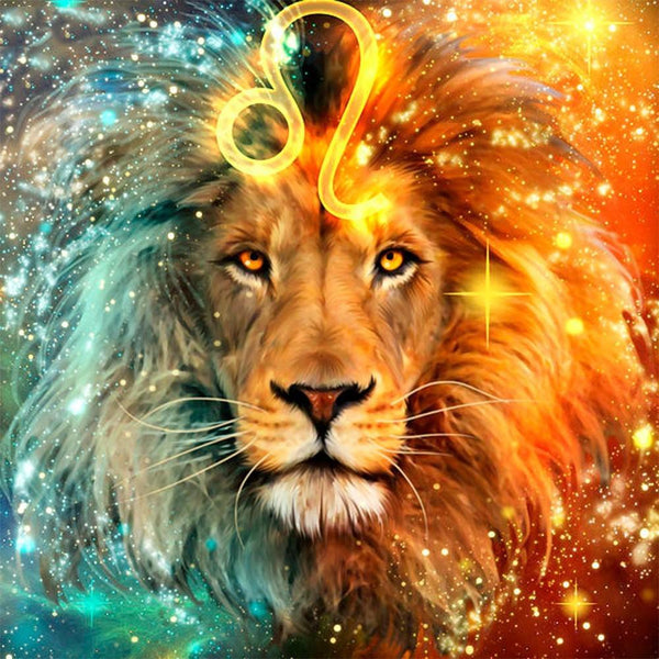5d Diy Diamond Painting Kits Lion Pattern Picture VM9428