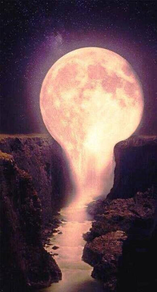 5D Diy Diamond Painting Kits Cross Stitch Dream Moon Falls VM90921