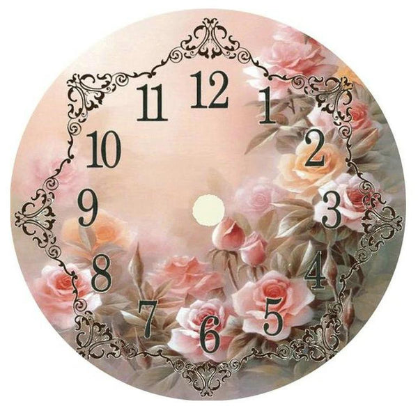 Dream Style Flower Clock 5d Diy Embroidery Cross Stitch Diamond Painting Kits NB0169