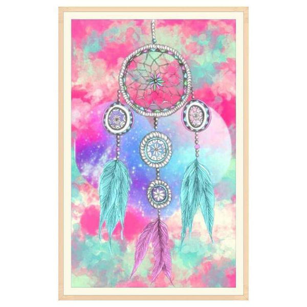 Embroidery 2019 Dream Catcher Feathers 5d Diy Diamond Painting Kits VM8342