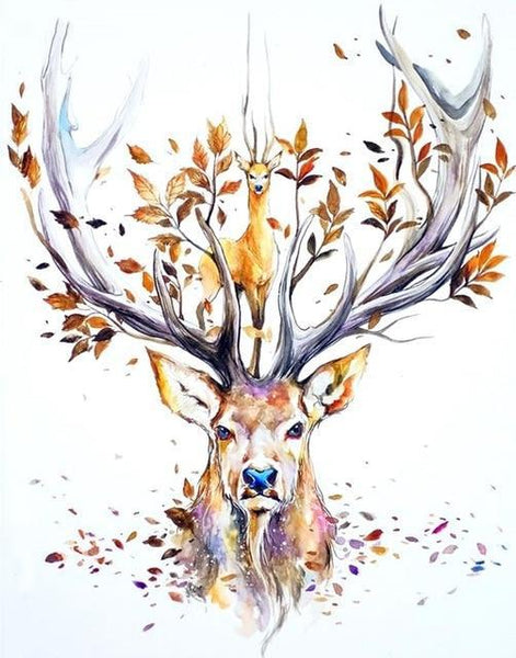Fantasy Deer 5D DIY Embroidery Cross Stitch Diamond Painting Kits NA0832
