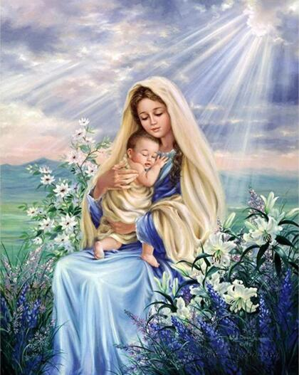 5D DIY Diamond Painting Kits Virgin Mary Religious VM91004