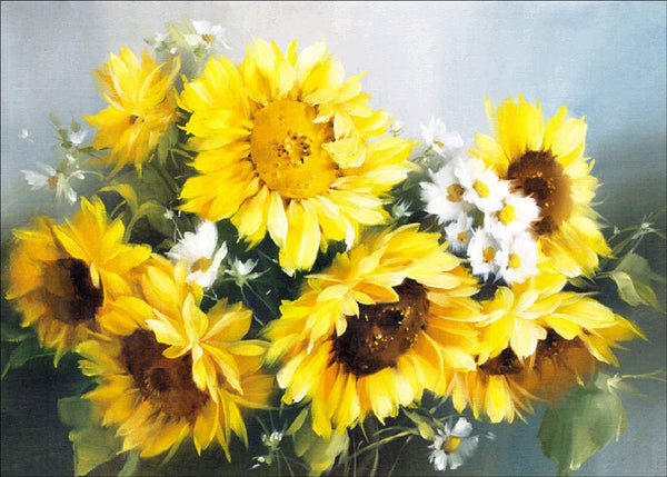 Cheap Full Drill Plant Sunflower 5D Diy Embroidery Diamond Painting Kits NA0054