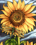 Modern Art Full Drill Plant Sunflower Dragonfly 5D Diy Diamond Painting Kits NA0053