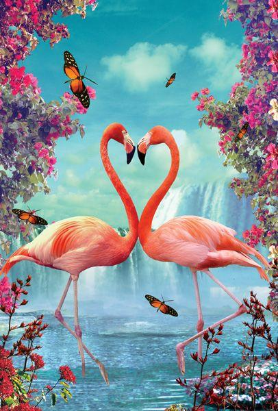 2019  5D Diy Diamond Painting Kits Art Flamingos NA0293