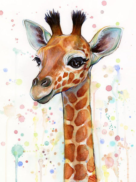 5d Diy Diamond Painting Kits Watercolor Giraffe NA0480