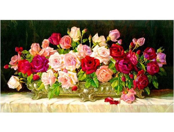 2019 5d Diy Diamond Painting Kits Flowers Home Decor  VM9084
