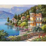 2019 5d Diy Diamond Painting Cross Stitch Landscape Town  VM8584
