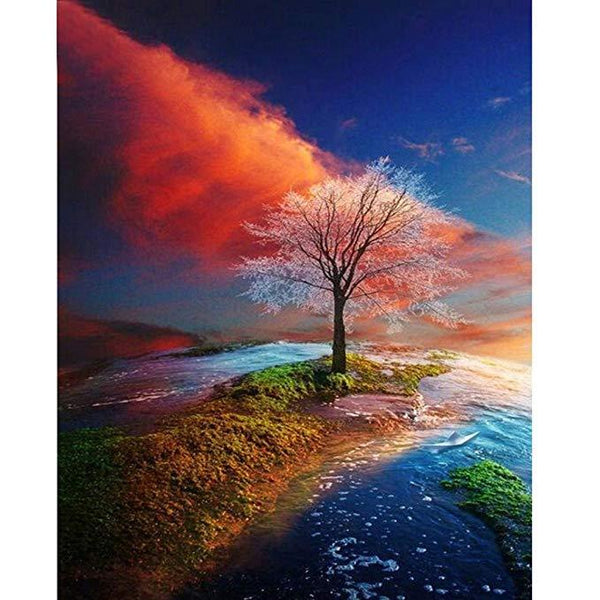 5d Diy Diamond Painting Kits Tree Landscape VM9499