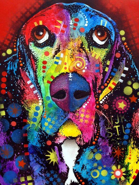 5d Diy Diamond Painting Kits Special Colorful Dog Bedazzled  VM9530