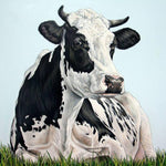 Oil Painting Style Cow 5D Diy Cross Stitch Diamond Painting Kits NA0182