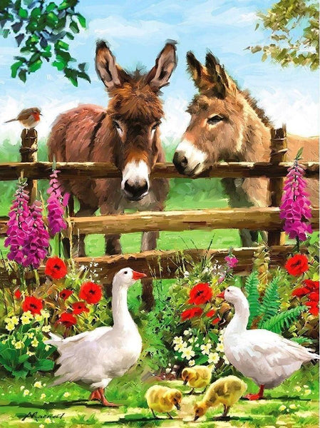 5D Diy Diamond Painting Kits Donkey NA0300