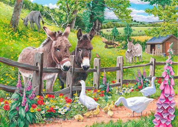 Oil Painting Style Donkey 5D Diy Cross Stitch Diamond Painting Kits NA0301