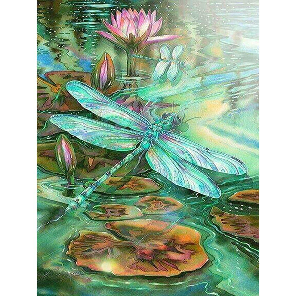 5D Diy Diamond Painting Kits Watercolor Dragonfly NA0107