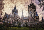 Full Square Drill Fantasy Castle 5D Diy Embroidery Cross Stitch Diamond Painting Kits NA0013