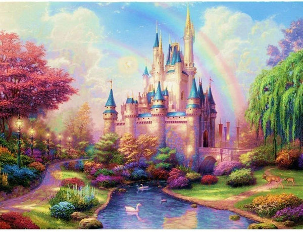 Oil Painting Style Fantasy Castle 5D Diy Embroidery Cross Stitch Diamond Painting Kits NA0017