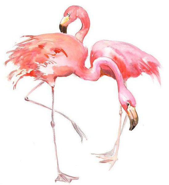 5D Diy Diamond Painting Kits Watercolor Flamingos NA0228