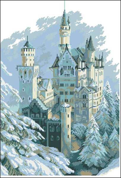 5D Diy Diamond Painting Kits Watercolor Landscape Castle NA0027