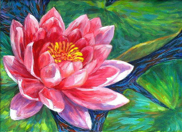 Oil Painting Style Lotus 5D Diy Embroidery Cross Stitch Diamond Painting Kits NA0144