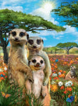 2019 5D DIY Diamond Painting Cross Stitch Kits Meerkat Family VM7809