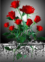 2019 5d Diamond Painting Kits Popular Red Flower Picture VM8029