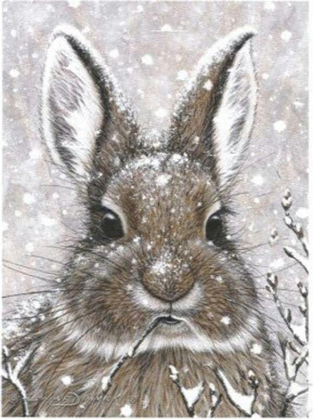 Full Square Drill Winter Rabbit 5D Diy Cross Stitch Diamond Painting Kits NA0219