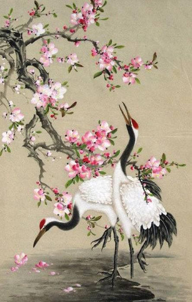 2019 5D Diy Diamond Painting Kits Watercolor Red-Crowned Crane  NA0065