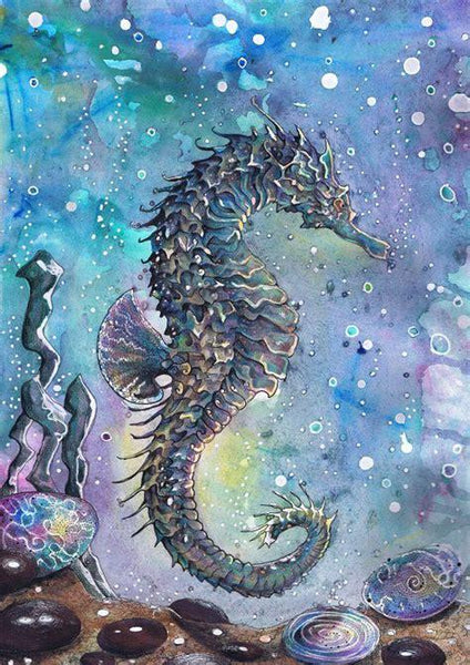 Full Square Drill Seahorse 5D Diy Fantasy Cross Stitch Diamond Painting Kits NA0309