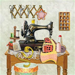 2019 5d Diamond Painting Set Sewing Machine Pattern VM01110