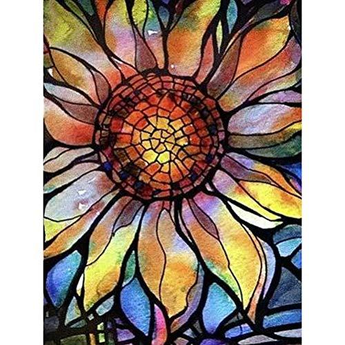 Modern Art Sunflower 5D Diy Cross Stitch Diamond Painting Kits NA0164