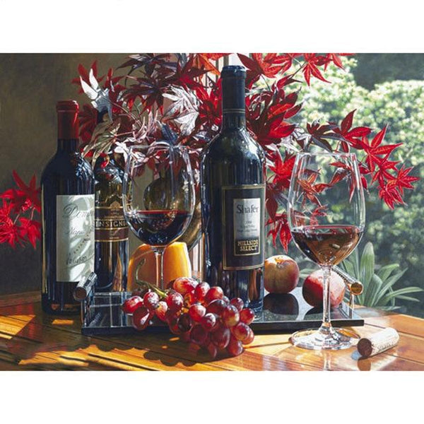 2019 5D DIY Diamond Painting Kits Wine Pattern VM9989